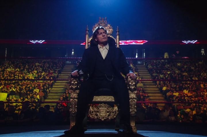 William Regal sits on his throne as King of the Ring